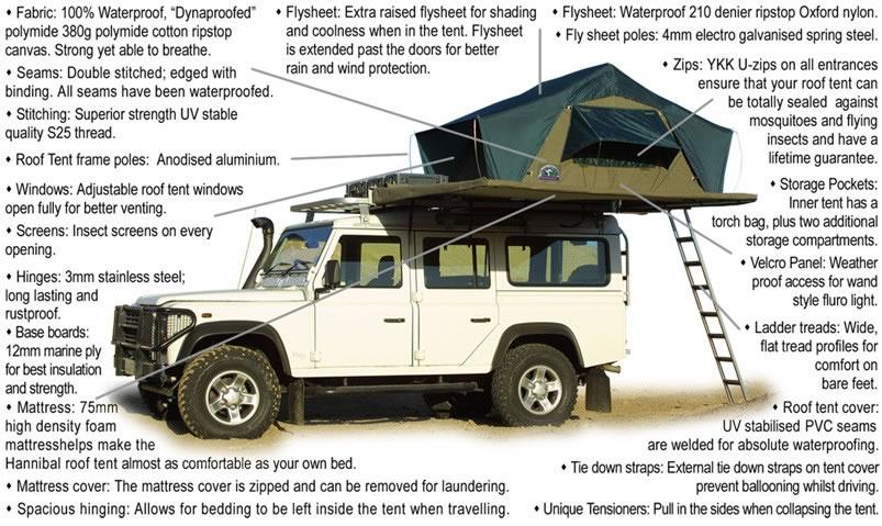 Roof Tents - Hannibal Safari Equipment South Africa